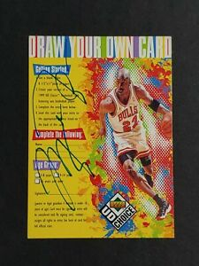 Michael Jordan Upper Deck Draw Your Own Card hand signed Autograph Card w/COA