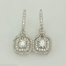 Unbranded Snap Closure White Gold Fine Diamond Earrings