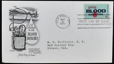 USA 1971 Blood Donors FDC First Day Cover#C49420