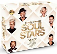 Latest & Greatest Soul Stars 3-CD Box Set NEW SEALED Marvin Gaye/Shalamar/Omar+