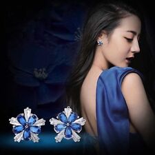 Fashion 1.00 Ct AAA Tanzanite sapphire Solid rose gold Stud Earings