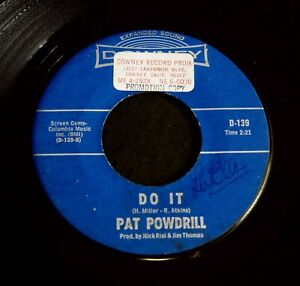 Pat Powdrill~I cant hear you/Do It US '66 DOWNEY Soul Funk promo 45