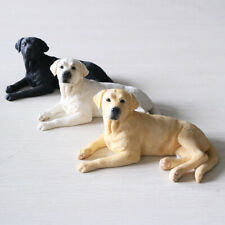JJM Labrador retriever Dog Pet Figure Animal Model Collector Decor Toy Kid Gift