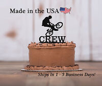 BMX, Bike Tricks, Boys Cake Topper Happy Birthday, Keepsake, Sports - LT1114