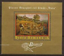 1972 - ROUMANIE - Belgica 72 - Brueghel - Bloc - NEUF ** - Timbre