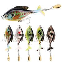 16.9g 2 Segment VMC Hooks Köder aus Fisch PopperName Rotate Tail Fishing Lure