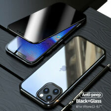 For iPhone 12 PRO MAX 11 XS XR 8 360 Protective Magnetic Anti Spy Privacy Case