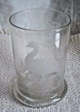 "CANADA GOOSE ETCHED GLASS HIGHBALL GLASS 4 3/4"" TALL ORIGINAL"