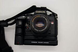 Chinon CE-5 35mm SLR w/ Auto Chinon 1:1.9 50mm, Autowinder, Sigma 35-105