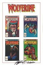12x18 Marvel Color Print Wolverine LE 1-4 Hand Signed by Claremont & Rubinstein