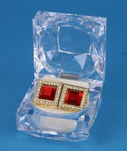 Men's Hi Hop Large Square Iced GP Micro Pave Earring 16mm