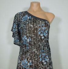 FREE PEOPLE One Shoulder Printed Top with Kimono Sleeve size S