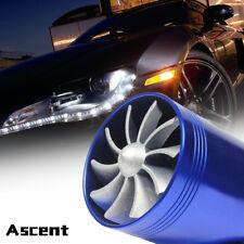 Car Accessories Gas Fuel Saver Supercharger Air Intake Dual Fan Turbine Turbo