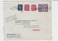 portugal 1948 air mail stamps cover ref 19381