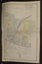 Ohio Huron County Map Bellevue  1891 2-Dbl Pg  !Y14#60