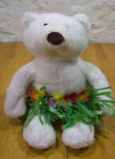Limited Too Hawaiian Hula Teddy Bear In Grass Skirt 16 inches tall Plush Toy