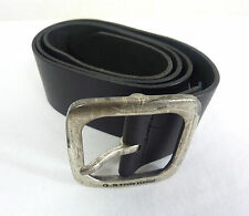 NEW G-STAR MENS BELT REFRESH BANETT BELT BLACK RAW LEATHER SIZE 90 RRP $145