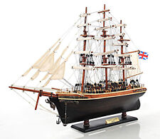 "The Cutty Sark Wooden Tall China Clipper Ship Model 22"" Fully Built New"