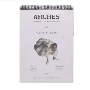 Arches Pastel & Fusain A4 spiral bound 130gsm pastel charcoal paper pad