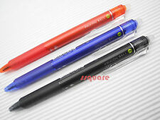 Pilot FriXion Ball Knock 0.5mm Erasable Rollerball Pen,3 Colours w/ Plastic Case