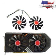 2pcs For Graphics Card Cooling Fan Video Card GPU Cooler Fan XFX RX580 584 588