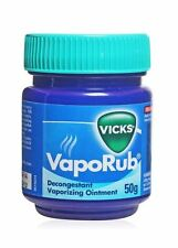 Vicks vaporub fast relief cold and cough flu nose rub on massage pack of 10 50gm