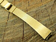 Vintage Watch Band 10mm Straight End Ladies Seiko Base Metal Butterfly Pre-Owned