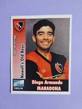 FIGURINA CALCIO NEWELL'S OLD BOYS MARADONA 1993-94 ANASTATICA (REPRINT) NEW-FIO