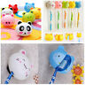 Unisex 3X Cute Cartoon Animal Sucker Toothbrush Wall Holder Suction Cup Bathroom
