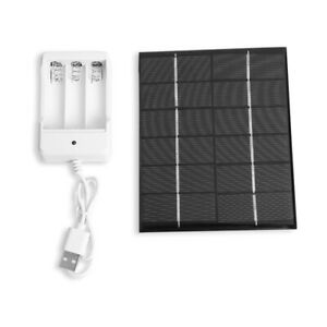 2W 6V USB Output Solar Battery Charger + AA Rechargeable Battery Charger