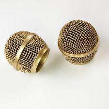 2x Mesh Mikrofon Gitter für Shure sm58 565sd LC Mikrofon, Kupfer versilbert