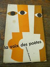 la voix des poètes revue trimestrielle par Simone Chevallier et Franz Weber 1962
