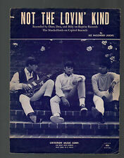 Not The Lovin Kind 1965 Dino Desi and Billy Sheet Music
