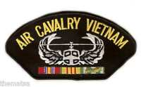"""AIR CAVALRY VIETNAM VETERAN EMBROIDERED 6""""  MILITARY SERVICE RIBBON  PATCH"""