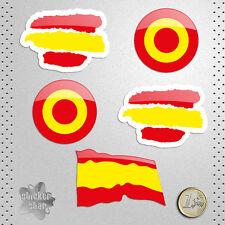 STICKER BANDERAS DE ESPAÑA SPAIN PEGATINA DECAL AUTOCOLLANT AUFKLEBER ADESIVI