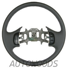 Gray Ford F150 F250 F350 Leather Steering Wheel - NEW!
