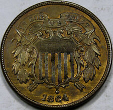 1864 Lg. Motto Two Cent Piece  Gem BU+ RB...  FLASHY and Very NICE, Great Coin!!
