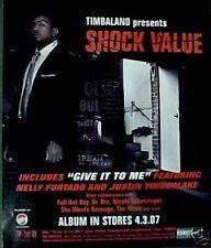 Timbaland Shock Value Rock & Pop Album Music Art Print AD