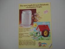 advertising Pubblicità 1989 COCCIO e SVEGLIA MULINO BIANCO