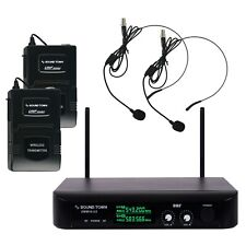 Sound Town Dual-Channel Professional UHF Wireless Microphone System (SWM10-U2BB)