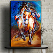 HD Print Home Wall Art Decor Animals Painting Indian War Horse on Canvas 20x30