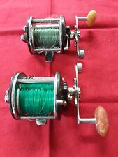 (2) VINTAGE PENN PEERLESS NO. 9  LEVEL WIND FISHING REEL - salt/fresh water USA