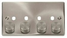 Satin Chrome 4-Gang Dimmer Switche Home Electrical Fittings
