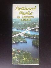 Rare ancien dépliant Brochure national parks Canada Ontario
