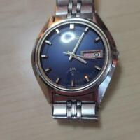 Vintage Seiko Lord Matic 5606-7191 Automatic 23Jewels Navy Blue Dial Mens Watch