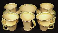 1936 BURLEIGH WARE 20 PIECE TEA SET ART DECO SHAPES WHEAT PATTERN BELVEDERE