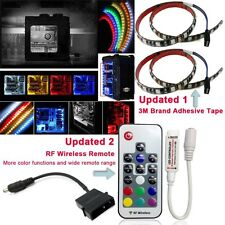 Airgoo® Full Kit Computer RGB 5050 SMD 2pcs 30leds 50cm LED Strip Light with RF
