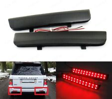 2x Black Range Rover L322 Freelander 2 Rear Bumper Reflector LED Brake Light DRL