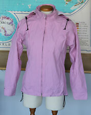 Women's Tilley Endurables Pink Nylon Hooded Windbreaker Rain Jacket Size S/P