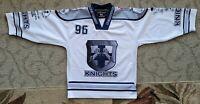 #96 Zirnheld Wilkes Barre Scranton Knights Game Used Blue Jersey NAHL